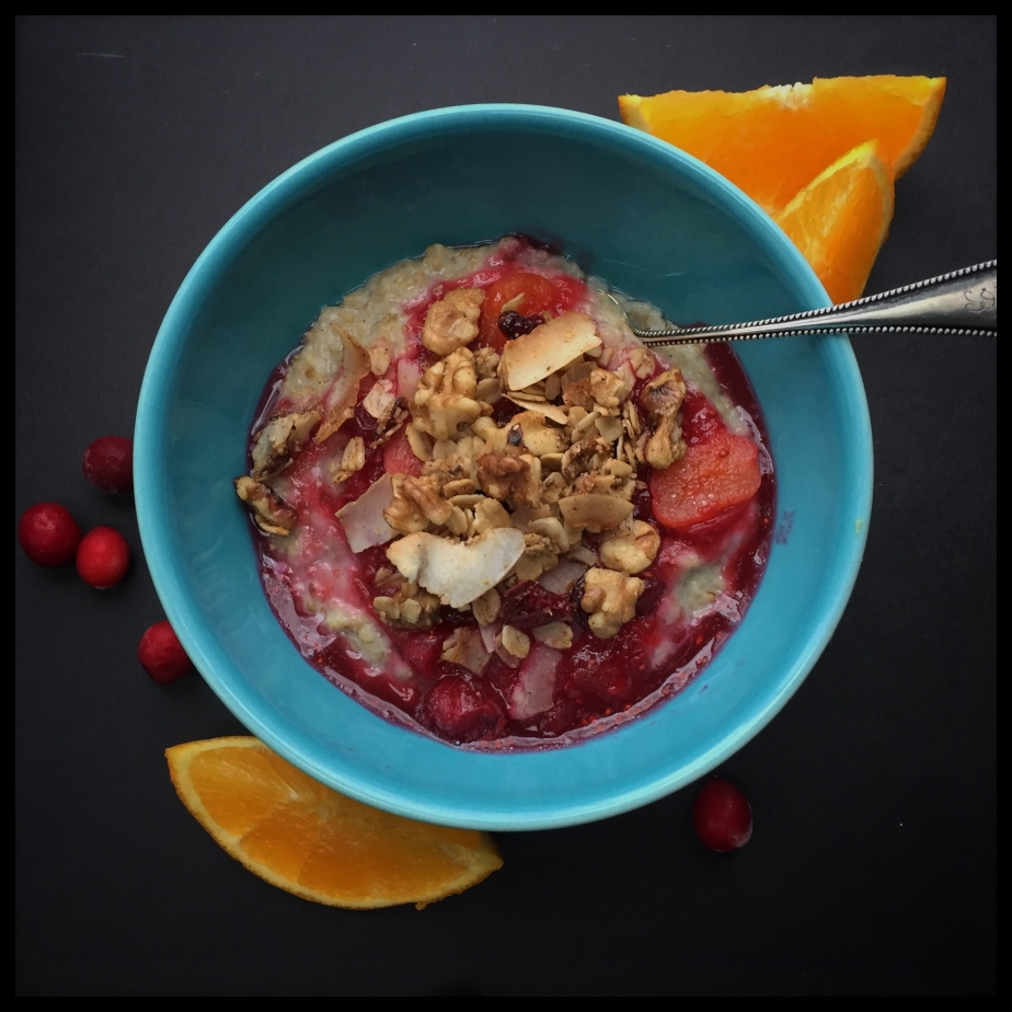 Steel Cut Oats with Cranberries and Orange