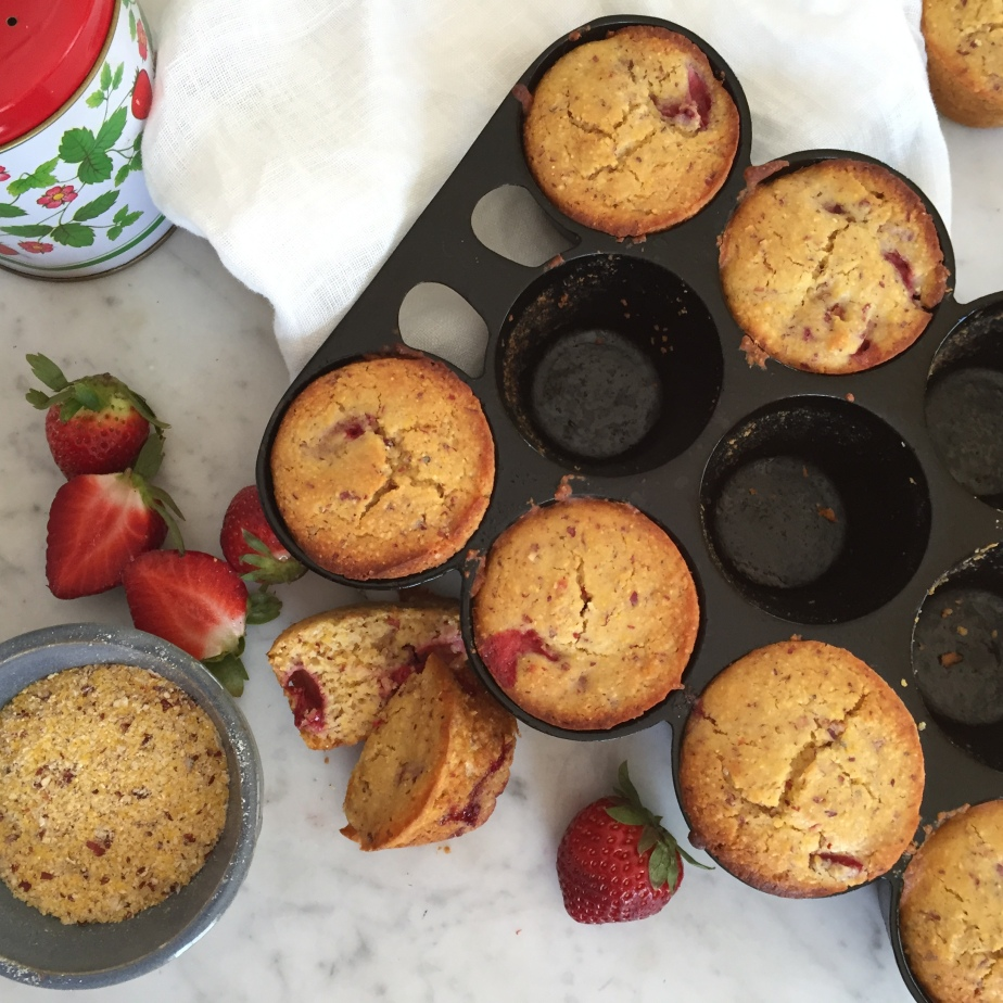 Gluten-Free Strawberry Cornmeal Muffins