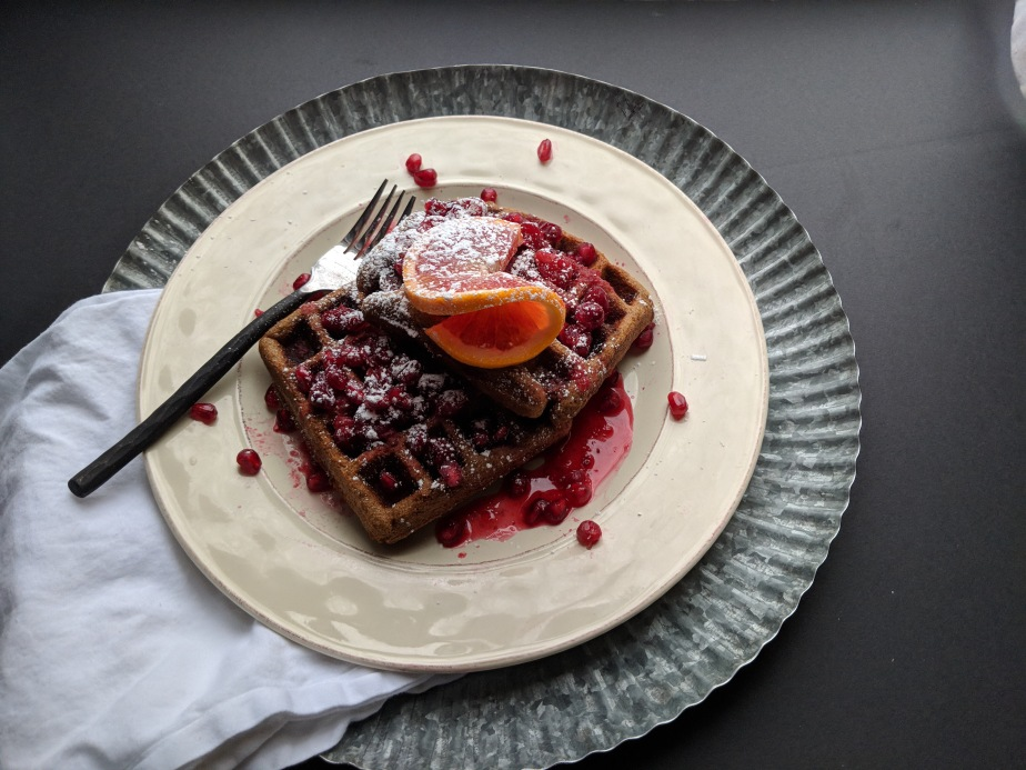 Gluten Free Gingerbread Waffles for a Snowy Day